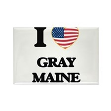 I love Gray Maine Magnets