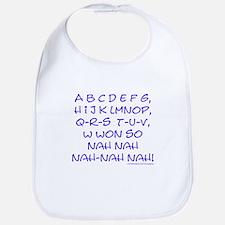 blue alphabet weepublican Bib