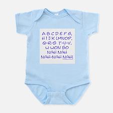 blue alphabet weepublican Infant Creeper