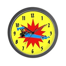 Blue Dragster Wall Clock