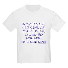 blue alphabet weepublican Kids T-Shirt