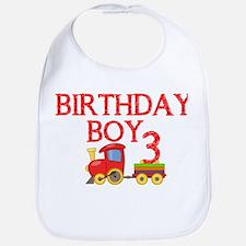 Boys 3rd Birthday Bib