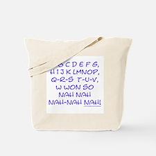 blue alphabet weepublican Tote Bag