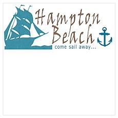 Hampton Beach Sailing Poster