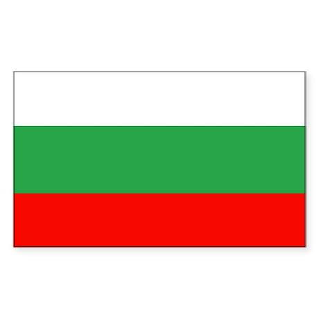 Bulgarian Flag Rectangle Sticker
