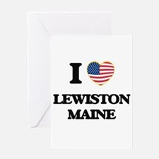 I love Lewiston Maine Greeting Cards