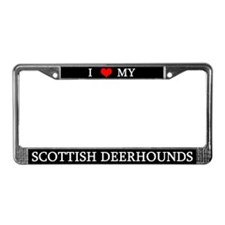 Love Scottish Deerhounds License Plate Frame