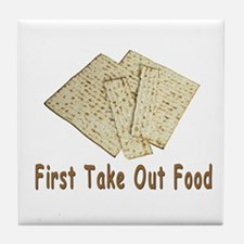 First Take Out Food Passover Tile Coaster