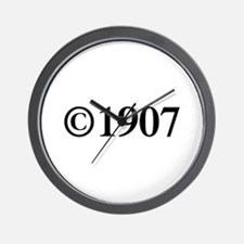 Copyright 1907-Tim black Wall Clock
