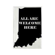 Indiana Welcome Rectangle Magnet