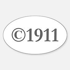 Copyright 1911-Gar gray Decal