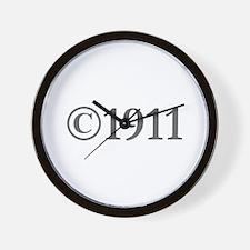 Copyright 1911-Gar gray Wall Clock