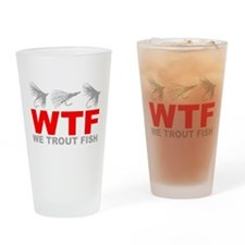 TROUT FISHING Drinking Glass