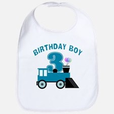 3rd Birthday Boy Bib
