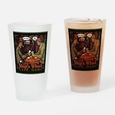 Ships Wheel Card Game Drinking Glass