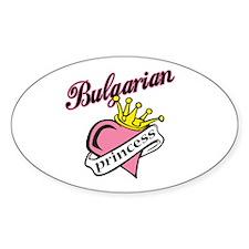 Bulgarian Princess Oval Decal