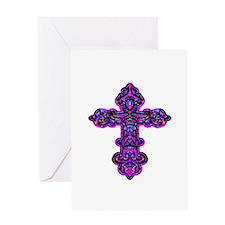 Ornate Cross Greeting Card