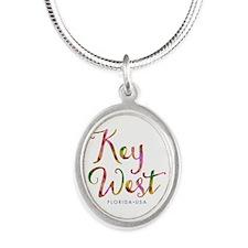 Key West - Silver Oval Necklace