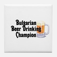 Bulgarian Beer Champ Tile Coaster