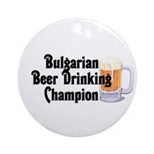 Bulgarian Beer Champ Ornament (Round)