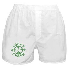 Lucky Charm 4 Leaf Clover Boxer Shorts