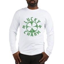 Lucky Charm 4 Leaf Clover Long Sleeve T-Shirt