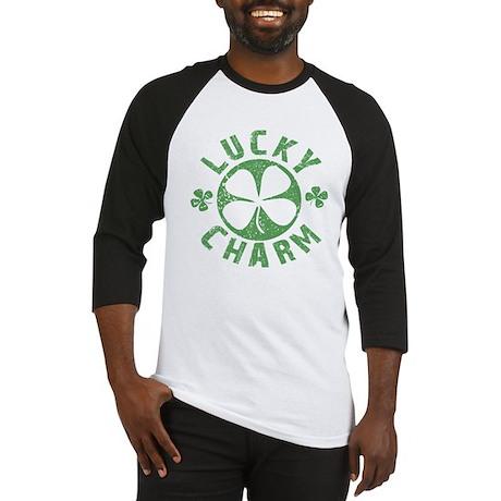 Lucky Charm 4 Leaf Clover Baseball Jersey