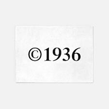 Copyright 1936-Tim black 5'x7'Area Rug
