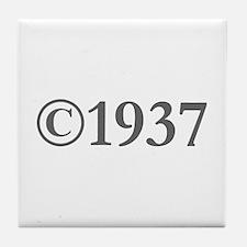 Copyright 1937-Gar gray Tile Coaster