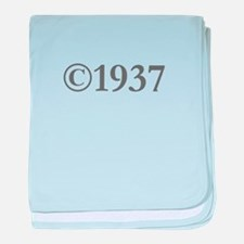 Copyright 1937-Gar gray baby blanket