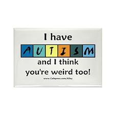 Autism Weird Rectangle Magnet