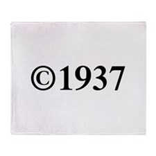 Copyright 1937-Tim black Throw Blanket