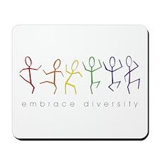 dancing rainbow Mousepad