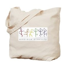 dancing rainbow Tote Bag