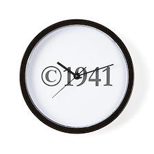 Copyright 1941-Gar gray Wall Clock