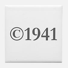 Copyright 1941-Gar gray Tile Coaster