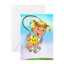 Jumpy Blank Greeting Card