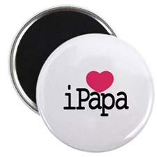 I Love Papa Magnets