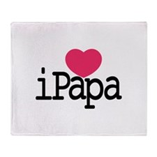 I Love Papa Throw Blanket