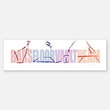 Gymnastic Events Bumper Bumper Bumper Sticker
