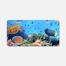 Sea Life Aluminum License Plate