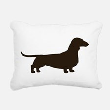 Dachshund Silhouette Rectangular Canvas Pillow