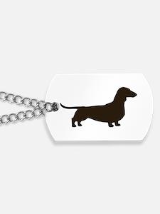 Dachshund Silhouette Dog Tags