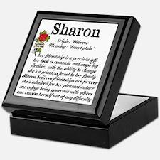 Sharon Name Meaning Design Keepsake Box