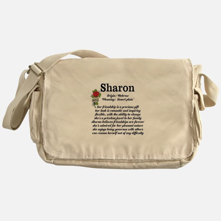 Sharon Name Meaning Design Messenger Bag