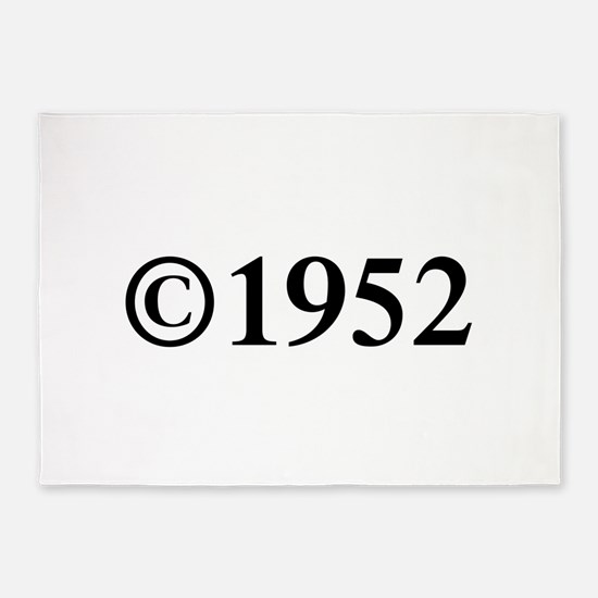 Copyright 1952-Tim black 5'x7'Area Rug