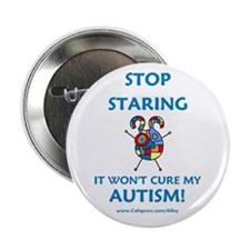 """Autism Stare 2.25"""" Button (10 pack)"""