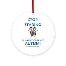 Autism Stare Ornament (Round)