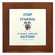 Autism Stare Framed Tile