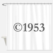 Copyright 1953-Gar gray Shower Curtain